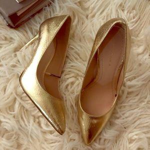 New ZARA gold heels